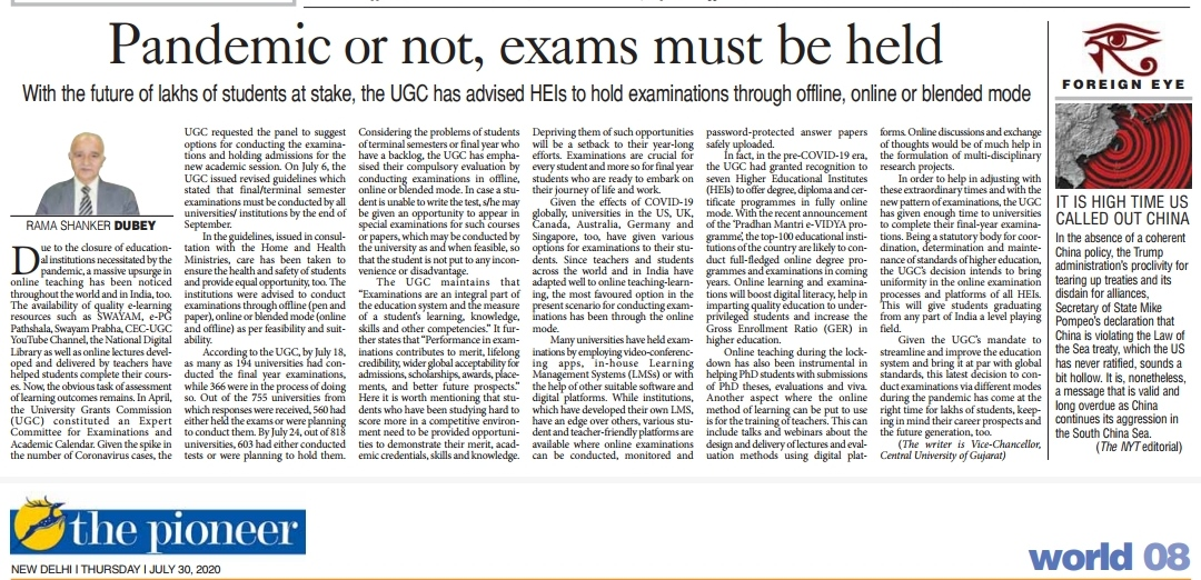 Pandemic or not, exam must be held.